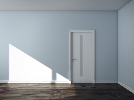 blue empty interior photo