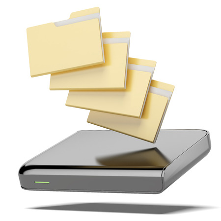 hard drive: Mobile Data isolated on a white background