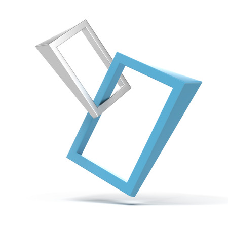 Abstract 3d frames  isolated on a white background Stock Photo