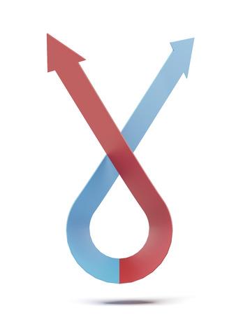 flechas curvas: flechas curvas aisladas en un fondo blanco