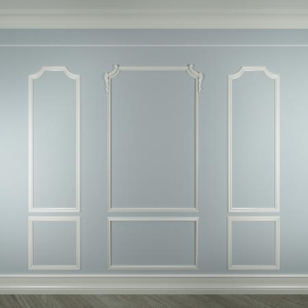 cổ điển: đúc trên bức tường trắng
