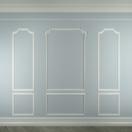 sconce: molding on white wall