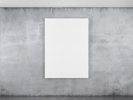 amaged: blank frame on a concrete wall Stock Photo