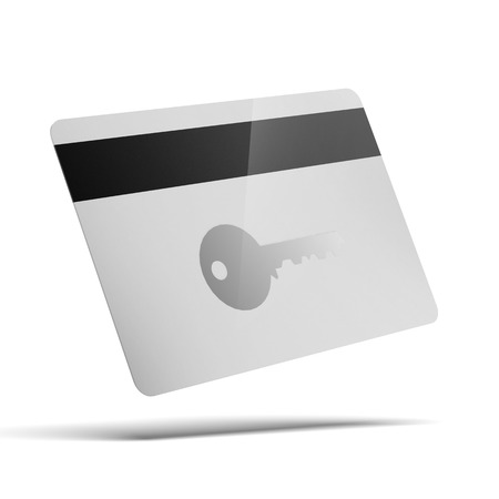 cardkeys for electronic door lock opening isolated on a white background photo