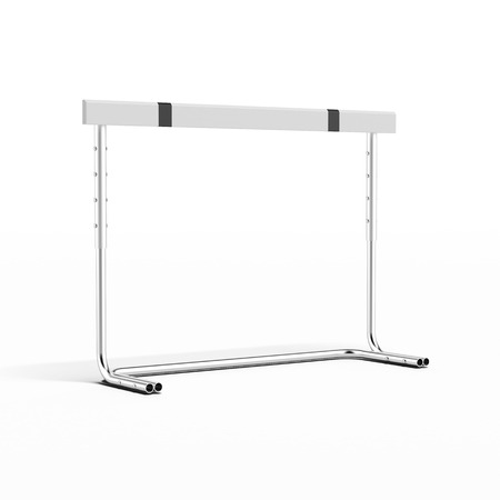 hurdling: Sports Hurdle  isolated on a white background