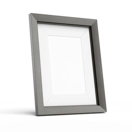空白の図枠が白の背景に分離 写真素材