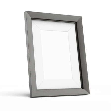 Blank picture frame  isolated on a white background photo