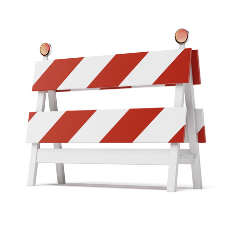 roadblock   isolated on a white background photo