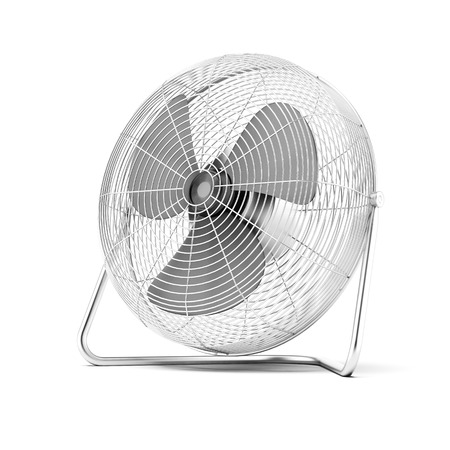 airstream: Floor mounted powerful fan  isolated on a white background