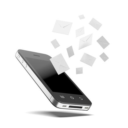 sent: Phone messages  isolated on a white background