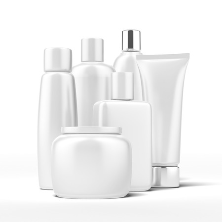 Set of beauty hygiene containers isolated on a white background 免版税图像