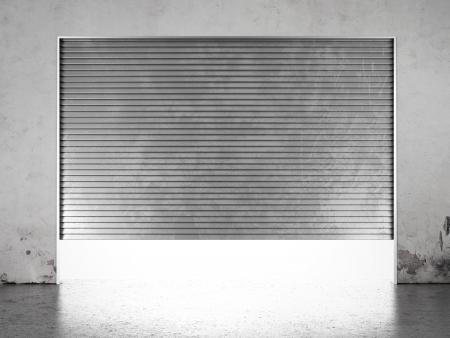 shutter door: Spotlight illuminate of  roller shutter door