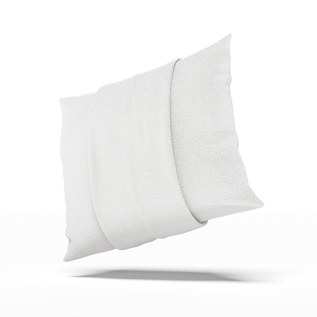case sheet: White Pillow isolated on a white background