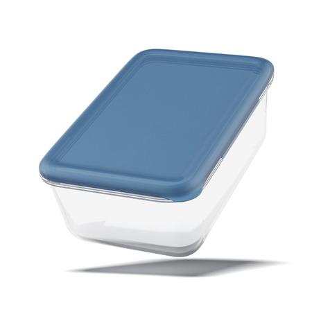 白い背景に分離した食品用のプラスチック容器 写真素材 - 22402731