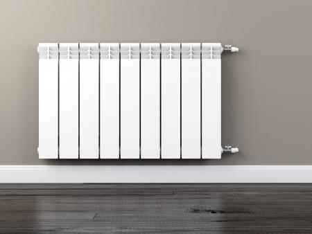 radiador: radiador de calefacción central Foto de archivo