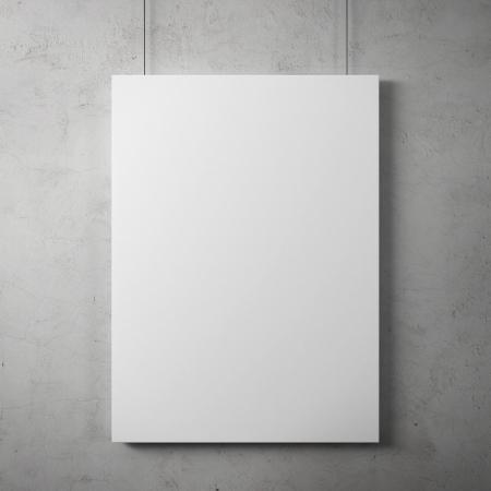 Cartelera en blanco en la pared Foto de archivo