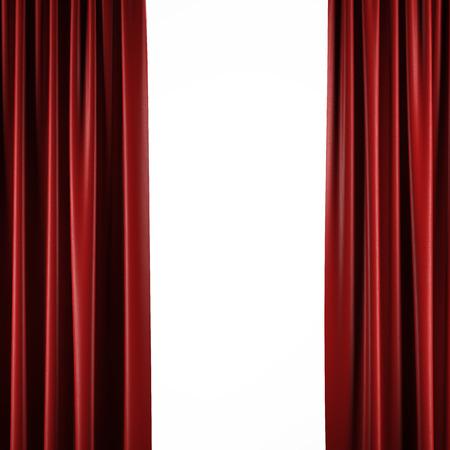 cortinas rojas: Cortinas rojas aislados en un fondo blanco