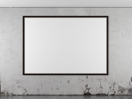 amaged: Wooden frame isolated on a white background
