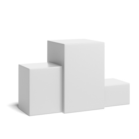 acknowledgment: winning podium isolated on a white background