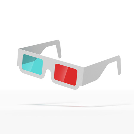stereoscope: 3d glasses  isolated on a white background