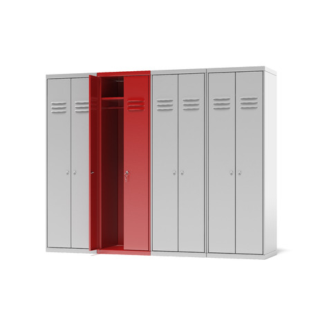 Lockers cabinets  isolated on a white background photo