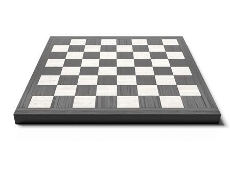 白い背景に分離された空のチェス盤