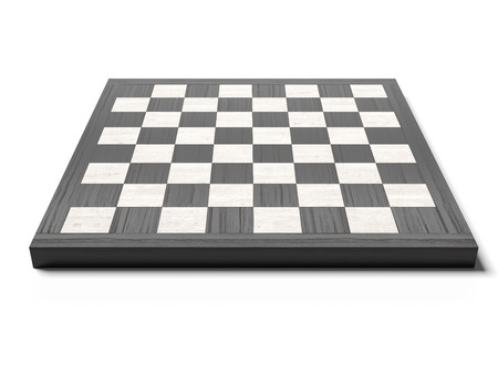 Empty chessboard isolated on a white background
