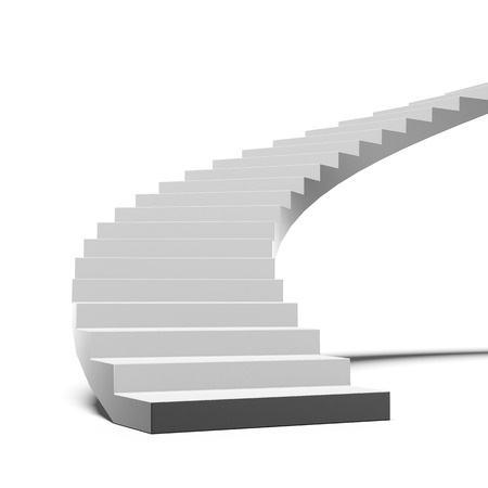Black and white stair isolated on a white background photo