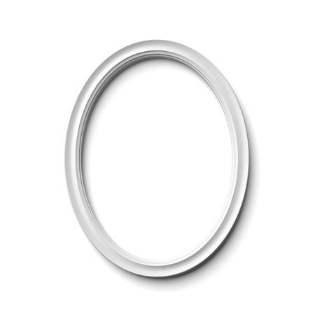 elipse: marco elíptico aislado en un fondo blanco Foto de archivo