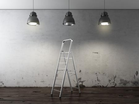 Ladder in interior