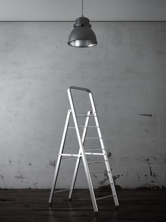 step ladder: Home improvement concept