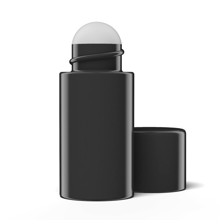 roll-on deodorant isolated on a white background photo