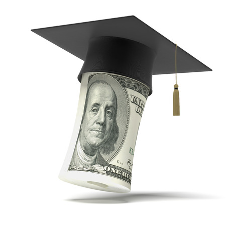 examiert: Education dollar isolated on a white background Stock Photo