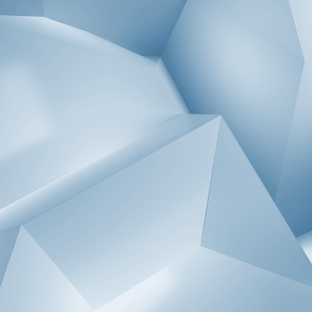 abstract blue geometric  background Stock Photo - 22403173