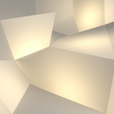 abstract yellow geometric  background Stock Photo - 22403180