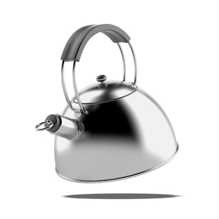 Metal teapot  isolated on a white background Stock Photo - 22403291