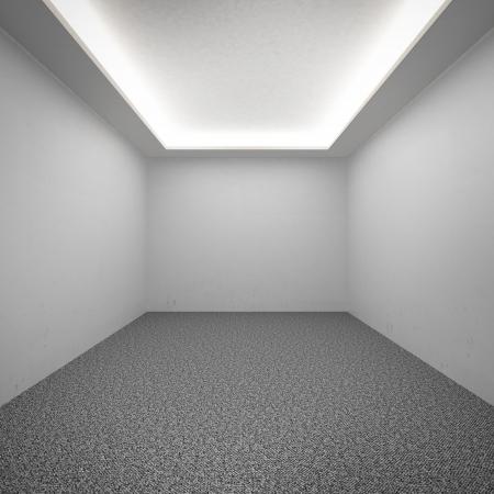 perspective room: Empty gallery interior 3d render Stock Photo