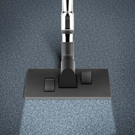 hoover: vacuum cleaner isolated on a blur background
