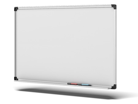 bar magnet: Board for notes  isolated on a white background