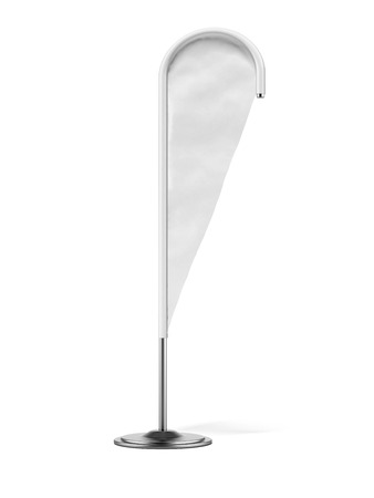teardrop: Blank teardropflying banner isolated on a white background