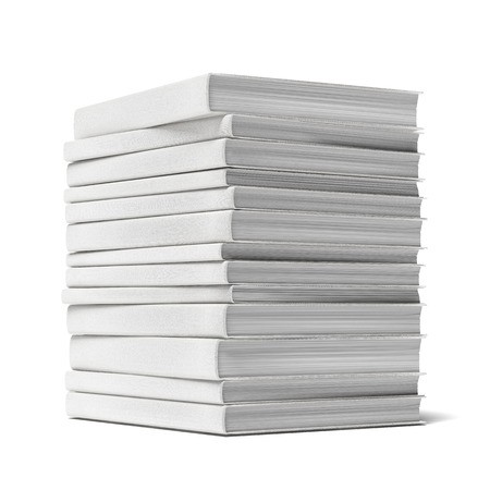 book pile isolated on a white background Stock Photo - 22403416