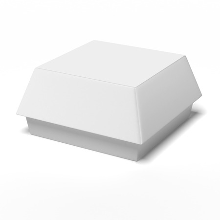 packaging: Fast Food Carton Container isolated on a white background