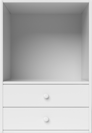 White shelves isolated on a white background photo