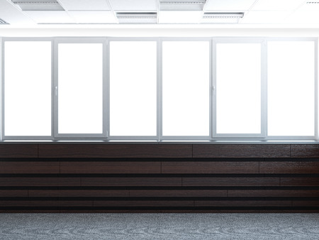 big window 3d render Stock Photo - 22403470