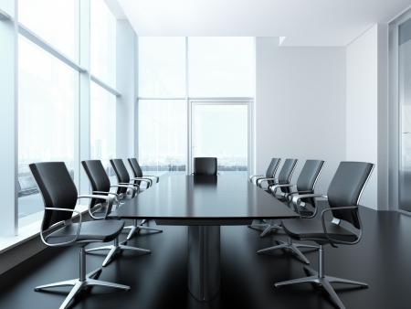 部屋のインテリアの会議。3 d レンダリング シーン 写真素材