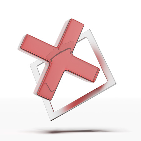 red x: Red x check mark