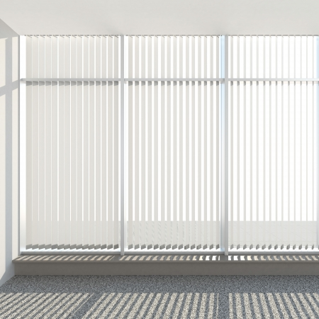 a blind: window vertical fabric blinds 3d render