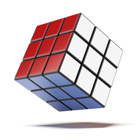 3D rubik cubes  isolated on a white background photo