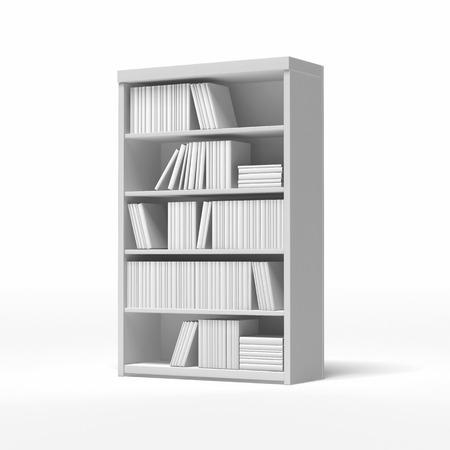 white bookshelves isolated on a white background Stock Photo - 22403552