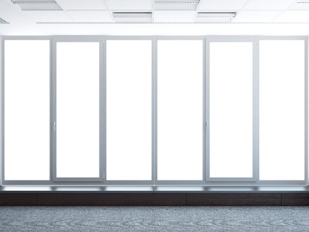 large windows  isolated on a white background photo